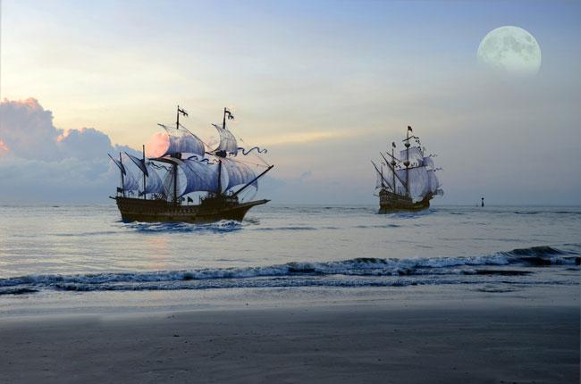 Bateaux de pirate