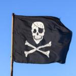 Drapeau de pirate pour chasse au trésor